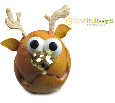 Blitzen the Reindeer Grapefruit