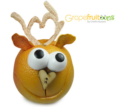 Grapefruit Cupid Reindeer