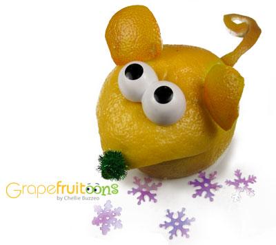 Grapefruit Quiet Christmas Mouse