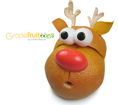 Rudolph the red-nose reigndeer grapefruit