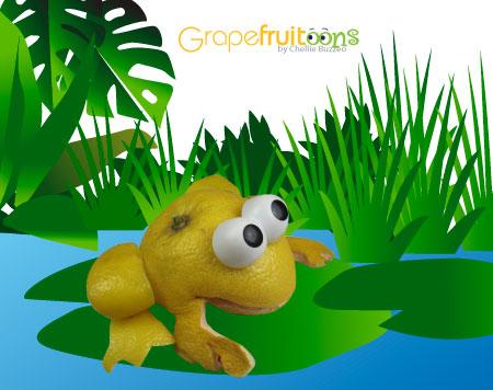 grapefruit frog