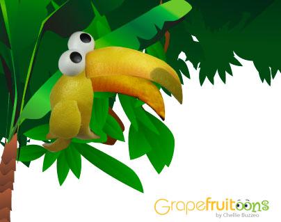 grapefruit tucan