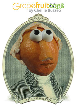 Thomas Jefferson grapefruit portrait