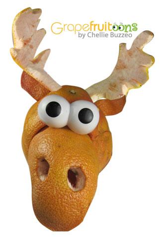Moose made of Grapefruit