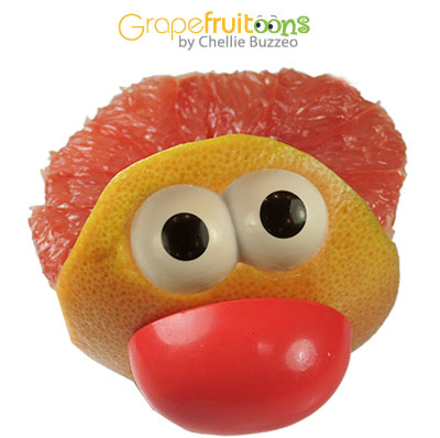 Clown made from grapefruit