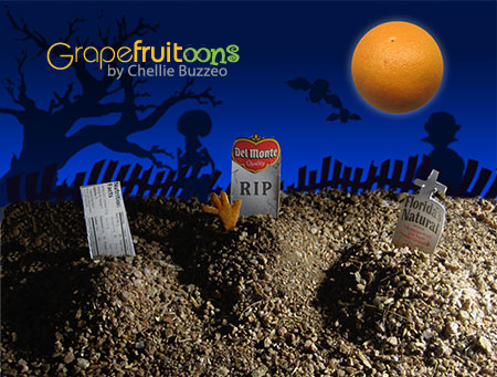 Rest In Peace. Grapefruit Halloween