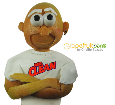 Mr Clean made from grapefruit